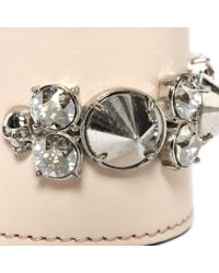 Alexander McQueen - Pink Spike Leather Cuff - Lyst