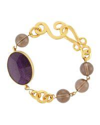 Stephanie Kantis - Metallic Hammered Link & Faceted Oval Bracelet - Lyst