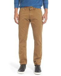 Billy Reid - Brown 'ashland' Straight Leg Cotton Pants for Men - Lyst