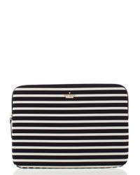 Kate Spade | Black Fairmont Stripe Laptop Zip Sleeve | Lyst