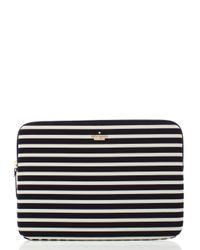 kate spade new york | Black Fairmont Stripe Laptop Zip Sleeve | Lyst