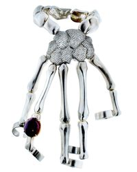 Delfina Delettrez | Metallic Special Order Skeleton Hand Bracelet | Lyst