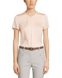 BOSS Pink Silk-blend Blouse: 'balana'