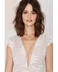 Nasty Gal | Metallic Need For Bead Necklace | Lyst