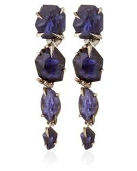 Alexis Bittar Fine | Purple Silver Iolite Four Stone Drop Earrings | Lyst