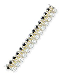 Buccellati | Black 18k Gold Bracelet With Onyx And Pearls | Lyst