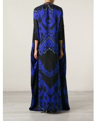 Emilio Pucci - Black Suzani Long Caftan Dress - Lyst