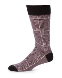 Saks Fifth Avenue | Purple Cotton-blend Dress Socks for Men | Lyst