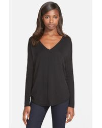 Trouvé | Black 'everyday' V-neck Sweater | Lyst