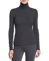 Theory - Gray Eliezer Roll-Neck Sweater - Lyst