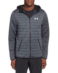 Under Armour | Gray Quilted Zip-up Hoodie for Men | Lyst