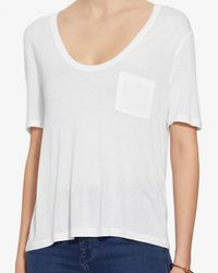T By Alexander Wang - Classic Crop Pocket Tee: White - Lyst