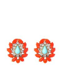 Helene Zubeldia | Red Khon Crystal Earrings | Lyst