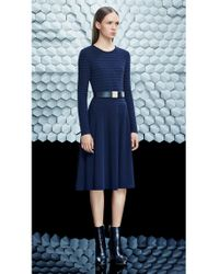 BOSS - Blue Dress In Viscose Blend: 'filona' - Lyst