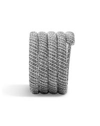 John Hardy - Metallic Classic Chain Multiple Coil Bracelet With Diamonds - Lyst