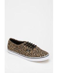 c9c35d6d5bd555 Lyst - Vans Authentic Lo Pro Leopard Womens Lowtop Sneaker