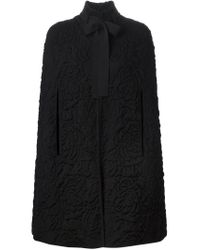 Alexander McQueen - Black Quilted Cape - Lyst