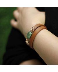 Federica Rettore - Brown Tsavorite Wrap Bracelet - Lyst
