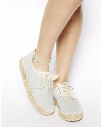 ASOS - Blue Nugget Charm Anklet - Lyst