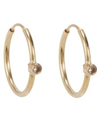 Jennifer Meyer - Metallic White Diamond Hoop Earrings Size Os - Lyst
