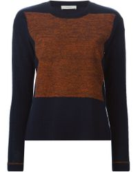 Paul by Paul Smith - Blue Knitted Panel Sweater - Lyst