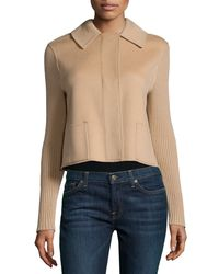 Neiman Marcus | Natural Cropped Cashmere Jacket | Lyst