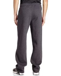 PUMA - Gray Drawstring Fleece Sweatpants for Men - Lyst