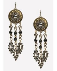Bebe | Metallic Disc & Triple Drop Earrings | Lyst