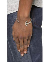 Miansai - Metallic Sterling Silver Modern Anchor Cuff for Men - Lyst