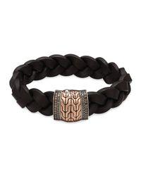 John Hardy - Black Men's Classic Chain Silver/bronze Station Bracelet for Men - Lyst