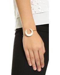 Jacquie Aiche | Metallic Bone Cuff Bracelet - Gold/gold | Lyst
