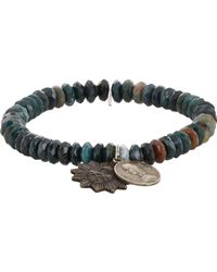 Miracle Icons - Blue Mixed Jasper Charm Bracelet for Men - Lyst