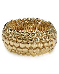 Ralph Lauren | Metallic Lauren Round Pendant Stretch Bracelet | Lyst