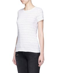 Rag & Bone - Black 'base' Segmented Dot Print T-shirt - Lyst