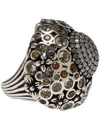 Stephen Dweck - Metallic Silver Quartz And Diamond Ring - Lyst
