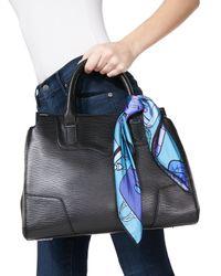 Anna Coroneo - Blue Handbag-print Small Square Scarf - Lyst