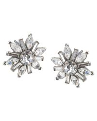 Carolee | Metallic Mixed Crystal Shape Stud Earrings | Lyst