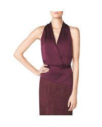 Tamara Mellon - Purple Halter Blouson Bodysuit - Lyst