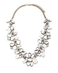 Forever 21 - Metallic Faux Gemstone Statement Necklace - Lyst