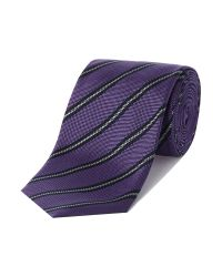 Tommy Hilfiger | Purple Stripe Tie for Men | Lyst