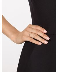 Carbon & Hyde | Metallic 'Olympia' Mid-Finger Diamond Ring | Lyst