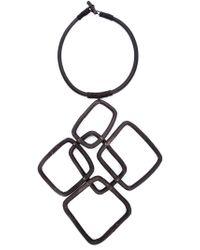 Urban Zen - Black Oversized Link Necklace - Lyst