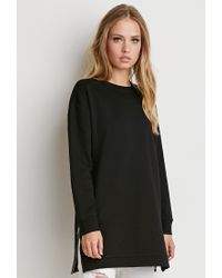 Forever 21 | Black Side-zip Longline Top | Lyst