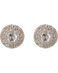 Irene Neuwirth - Metallic Women's Diamond Circular Studs - Lyst