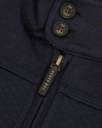 Ted Baker | Blue Quilted Funnel Neck Jacket for Men | Lyst