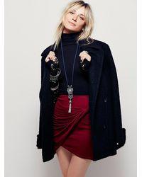 Free People | Purple Simone Twist Mini Skirt | Lyst