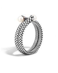 John Hardy | White Dot Double Coil Bracelet | Lyst