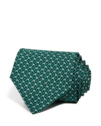 Ferragamo | Green Elephant Classic Tie for Men | Lyst