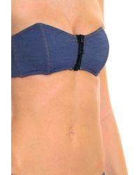 Lisa Marie Fernandez - Blue Lauren Denim Bikini - Lyst