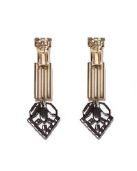 Iosselliani - Green Crystal Earrings - Lyst